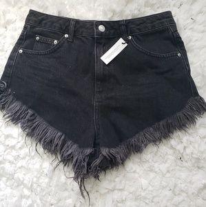 Topshop Kiri Fray Hem Shorts
